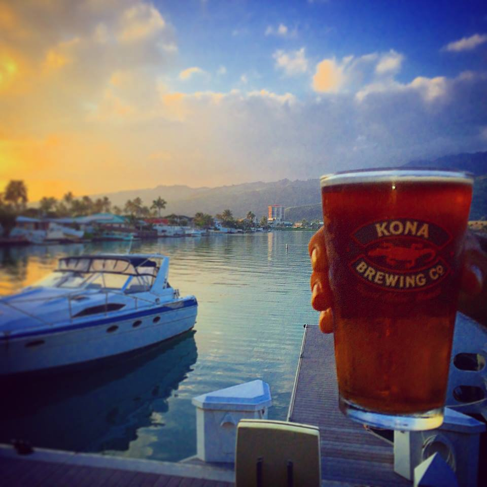 Dock your boat at Kona Brewing Koko Marina for the afternoon.