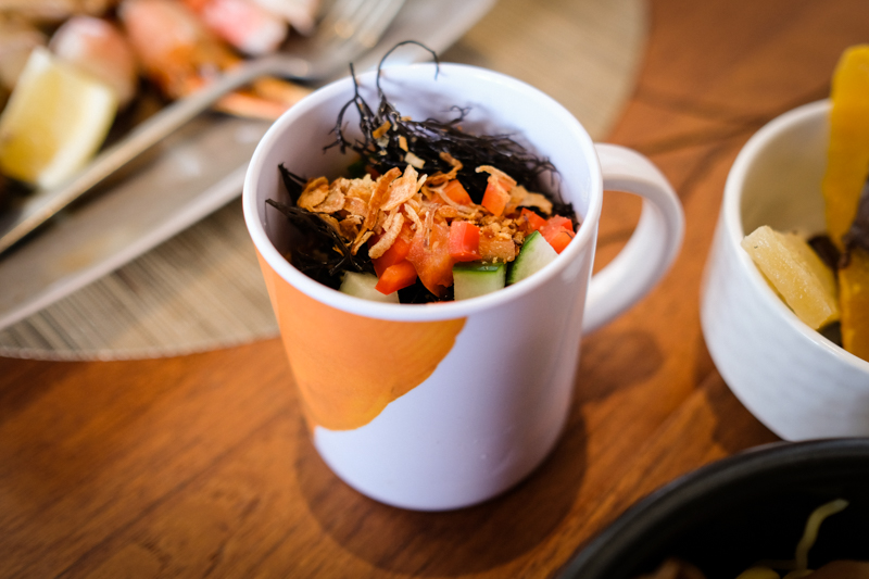 The poke is served in a mug, so it's a little hard but it's a good size to start with.