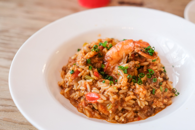 The jambalaya ($12) is hands down the best item on the menu we tried.