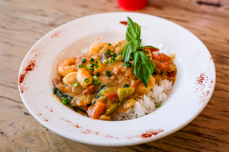 The Gulf shrimp etouffee aka shrimp smothered in gravy is another classic creole and cajun dish.