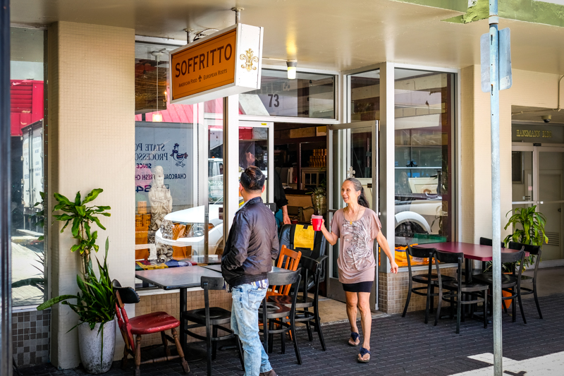 Soffritto is located next door to the bustling Doner Shack in the former Yum Yum Thai spot.