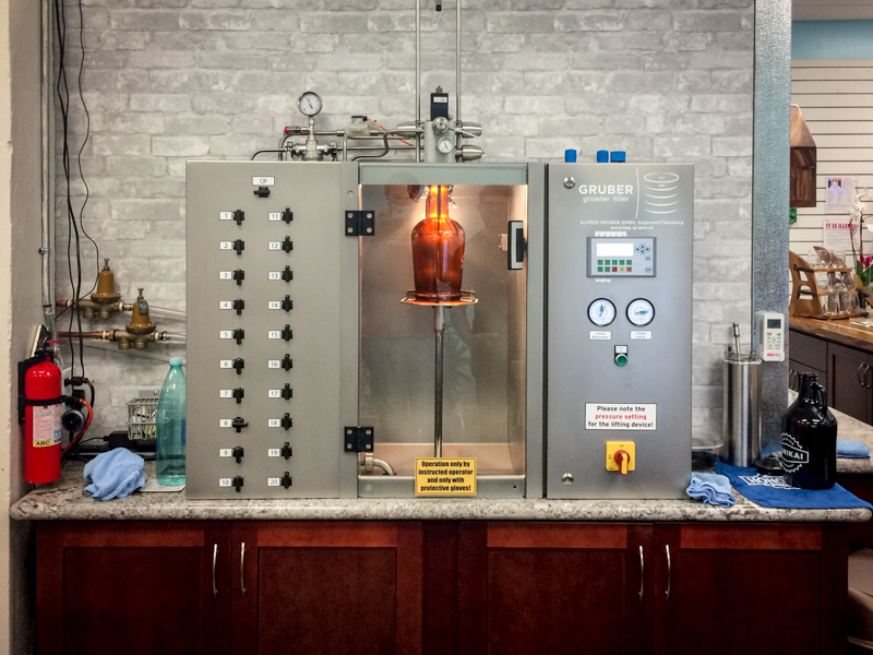 The growler station