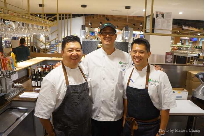 The Foodland chefs, from left: Brian Nagai, chef de cuisine; Rick Chang, pastry chef; and Keoni Chang, corporate chef and senior director of culinary.