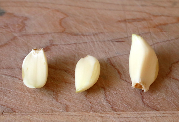 3 cloves of garlic