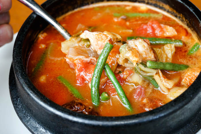Kimchee Portuguese Bean Soup ($8 on the lunch menu)