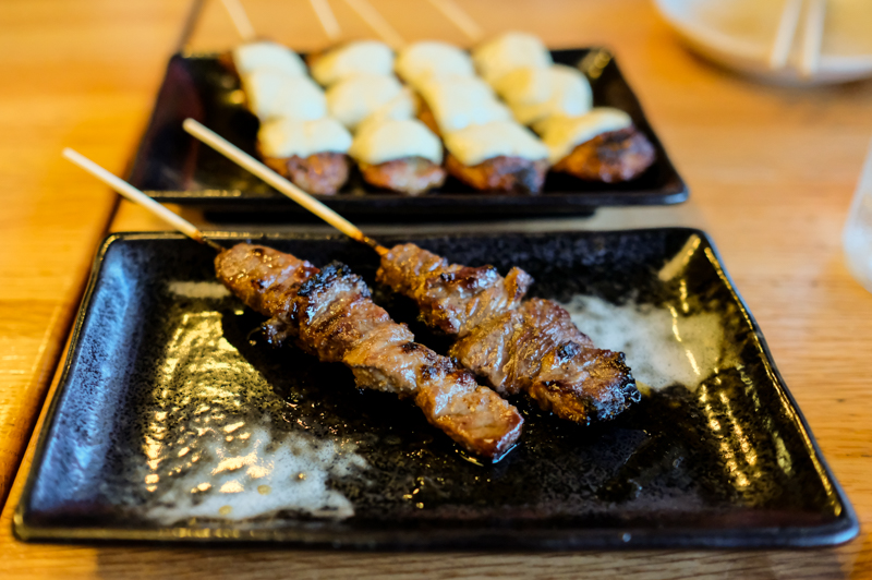 Gyukushi - beef sticks are okay, but not as good as the former beef tongue offering.
