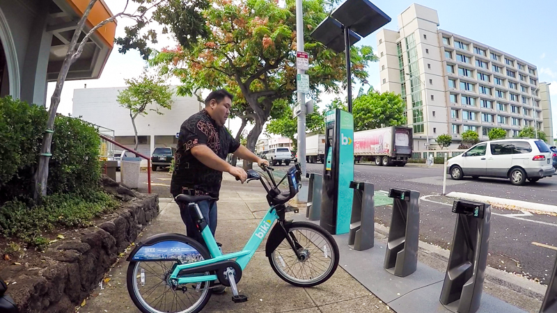 There are 100 Biki docks and 1,000 bicycles scattered throughout the urban core and many are within 10-minutes walking or five-minutes biking distance of each other.
