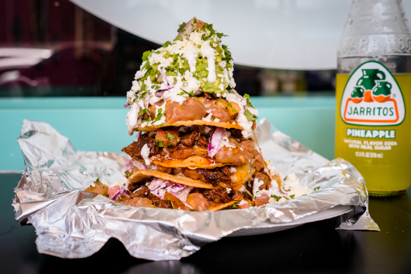 The Stack ($10.50 with carne asada) at King Street Tacos is a glorious sight to behold.