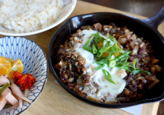 Mud Hen Water brunch pork sisig
