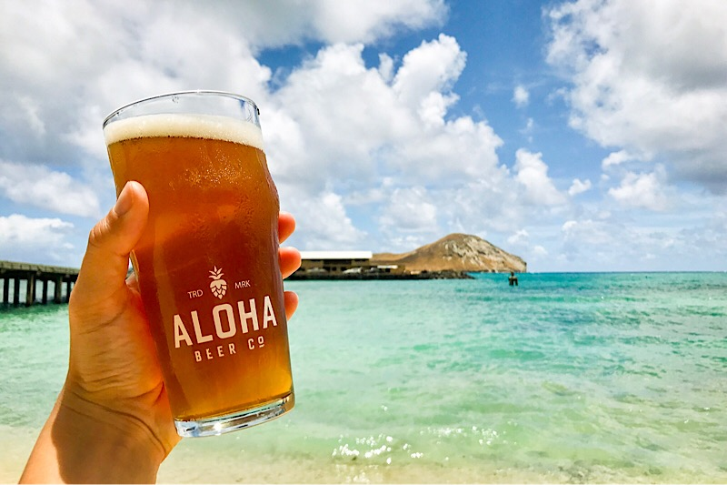 The Makai Pier Gose is brewed with seawater collected right here in Waimanalo.