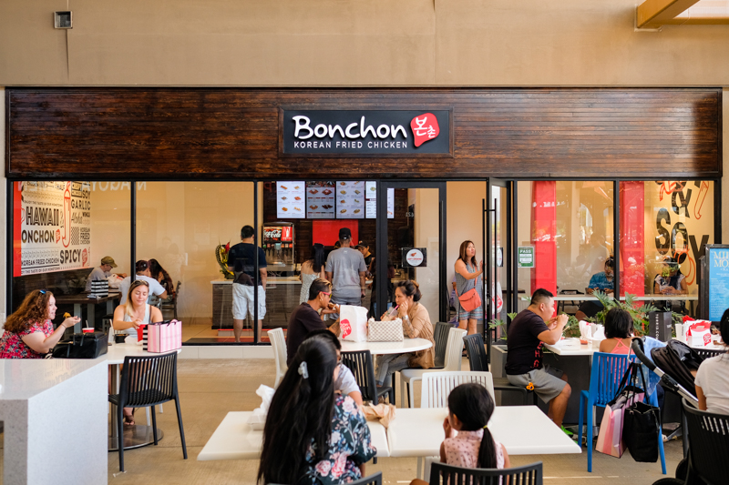 Located in the Ka Makana Alii food court, Bonchon is primarily for take-out.