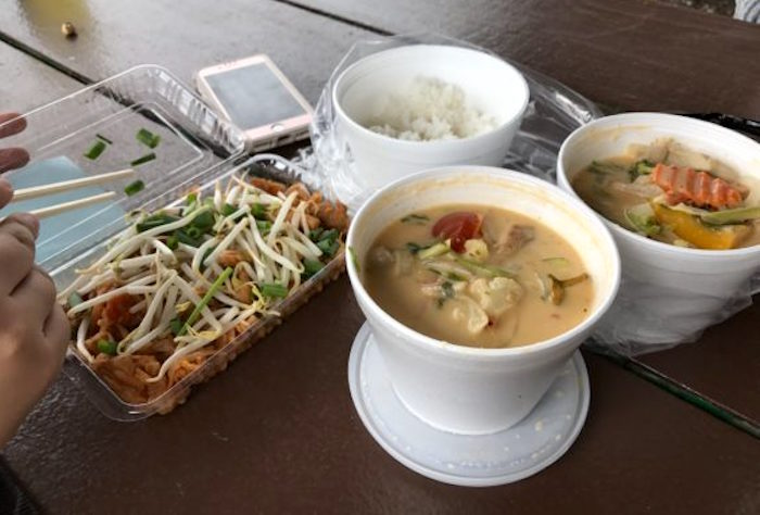 Pad Thai, coconut soup and jasmine rice